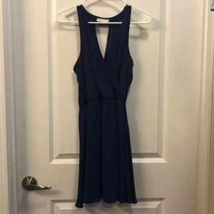 Lush navy mini dress